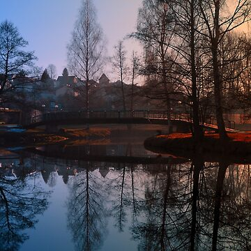 A bridge, the river and reflections III | waterscape photography by patrickjobst