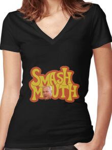 Smash Mouth Chris Harwell O Women's Fitted V-Neck T-Shirt