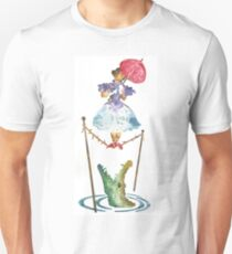 Perilous Pink Parasol - Stretching Portrait T-Shirt