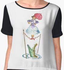 Perilous Pink Parasol - Stretching Portrait Women's Chiffon Top