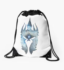 Arthas Helmut Inspired Watercolor Drawstring Bag