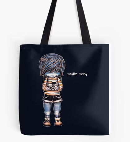 Smile Baby - Retro Tee Tote Bag
