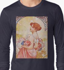 Alphonse Mucha - Etesummer Long Sleeve T-Shirt