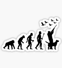 Duck Hunting Evolution Of Man Funny Silhouette Sticker