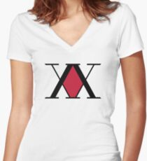 Hunter x Hunter  Logo Women's Fitted V-Neck T-Shirt