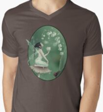Lily of the Valley Flower Fairy Men's V-Neck T-Shirt