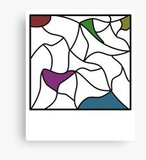 The colours within Canvas Print