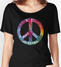 Peace, Love, Rock N' Roll Women's Relaxed Fit T-Shirt