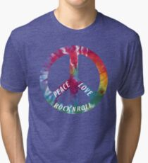 Peace, Love, Rock N' Roll Tri-blend T-Shirt