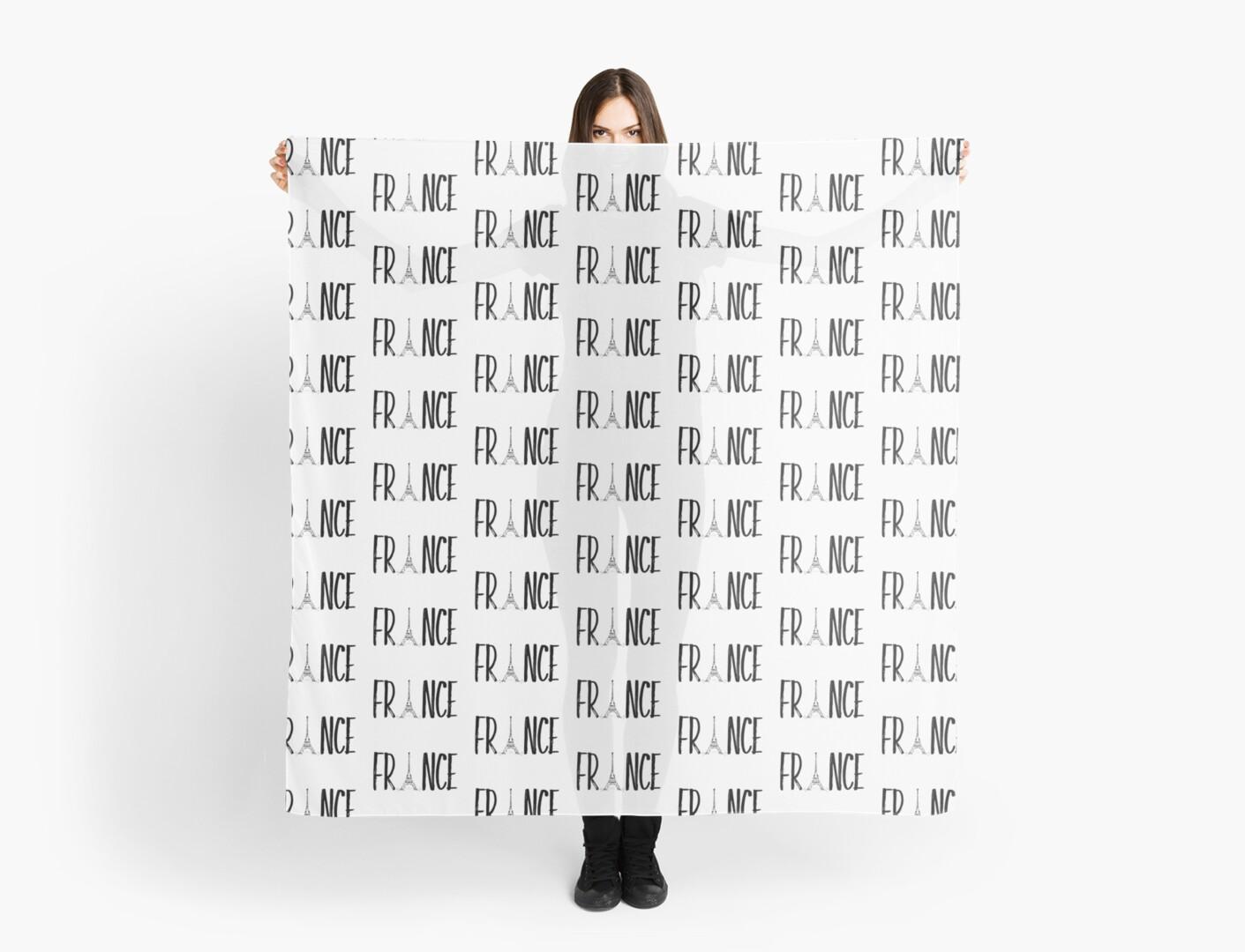 FRANCE Typografie  von Melanie Viola