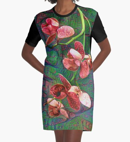 Phalaenopsis A #DeepDream Graphic T-Shirt Dress