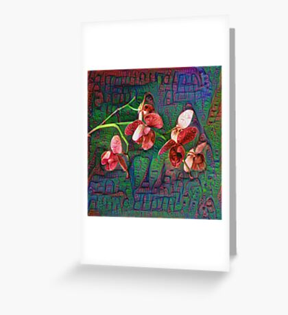 Phalaenopsis A #DeepDream Greeting Card