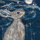 Moon Gazing Hare by margaretfraser