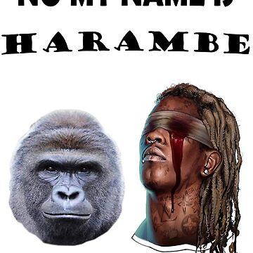 Harambe and Young Thug by rip-harambe