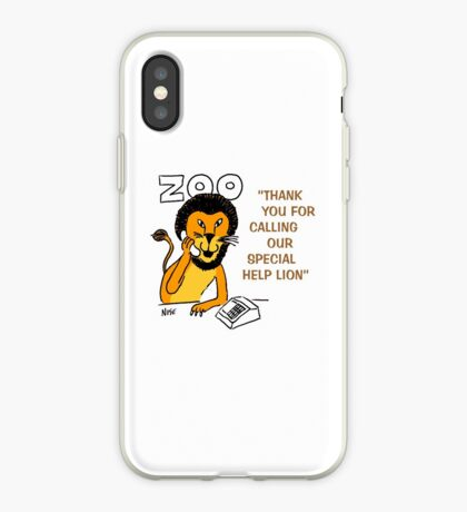 Special Help Lion at the Zoo iPhone Case