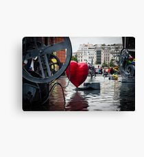 Heart in Paris Canvas Print