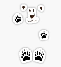 SAY HI TO THE BEAR IN THE SNOWSTORM Sticker