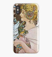 Alphonse Mucha - La Plumethe Pen iPhone Case/Skin