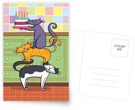 Cats Birthday by Simon Morse