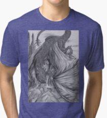 Hungarian horntail - BW Tri-blend T-Shirt