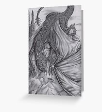 Hungarian horntail - BW Greeting Card