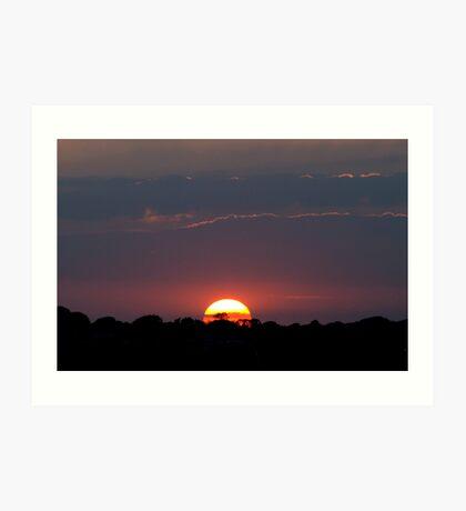 Sunset over Newhaven Art Print