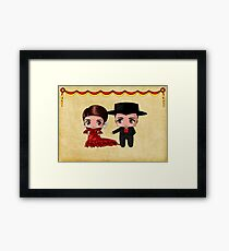 Spanish Chibis Framed Print