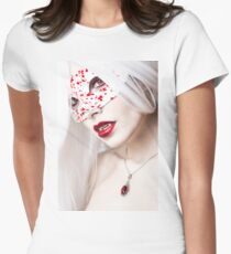 Drops of Blood Womens Fitted T-Shirt
