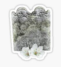 Macabre skulls and flowers Sticker