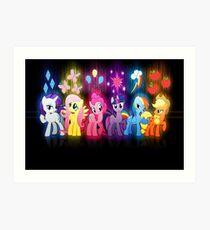 My Little Pony Neon Poster Art Print