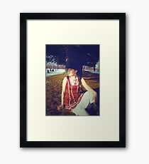 Lady Tophat Framed Print