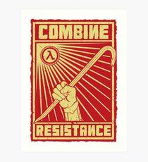 Combine Resistance Art Print
