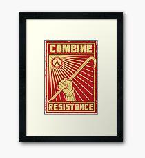 Combine Resistance Framed Print