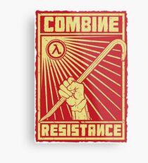 Combine Resistance Metal Print