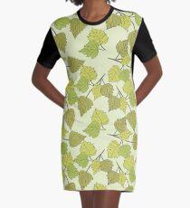 Birch leaves Graphic T-Shirt Dress