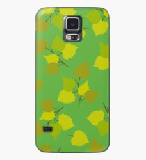 Birch leaves green background Case/Skin for Samsung Galaxy