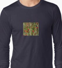 Red Poppies In A Cornfield Long Sleeve T-Shirt