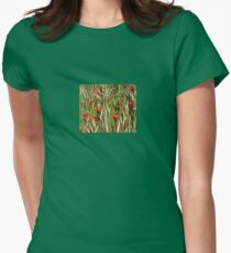 Red Poppies In A Cornfield Women's Fitted T-Shirt