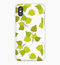 Birch leaves iPhone Case
