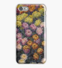 Claude Monet - Bed Of Chrysanthemums iPhone Case/Skin