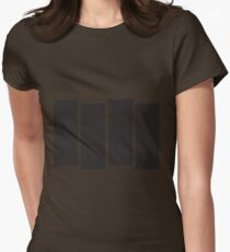 Black Flag Logo Bars Only Womens Fitted T-Shirt