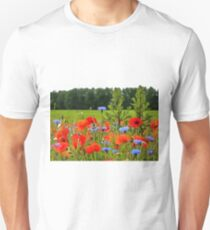 Poppies And Cornflowers Unisex T-Shirt
