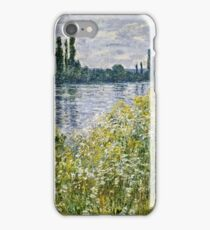 Claude Monet - Banks Of The Seine, Vetheuil 1880  iPhone Case/Skin