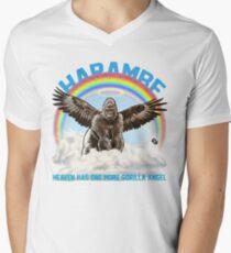 Harambe - Gorilla Angel Men's V-Neck T-Shirt