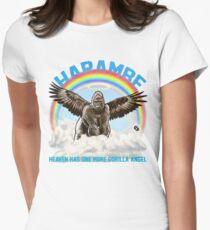 Harambe - Gorilla-Engel Tailliertes T-Shirt für Frauen