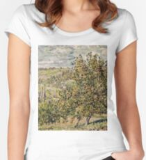Claude Monet - Apple Blossom  Women's Fitted Scoop T-Shirt