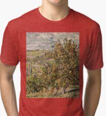 Claude Monet - Apple Blossom  Tri-blend T-Shirt