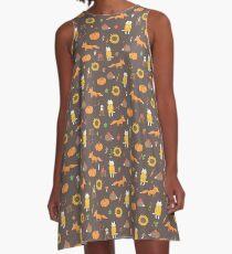 Herbst A-Linien Kleid
