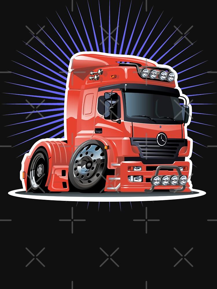 Cartoon semi-truck by Mechanick