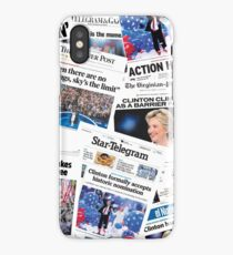 Hillary Clinton Nomination Historic Newspapers iPhone Case/Skin